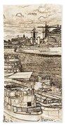 River Thames Art Bath Towel
