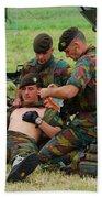 Soldiers Of A Belgian Infantry Unit Bath Towel
