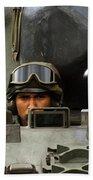 Tank Driver Of A Leopard 1a5 Mbt Bath Towel