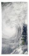 Typhoon Megi Bath Towel