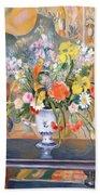 Vase Of Flowers Bath Towel