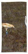 Whooping Cranes Bath Towel