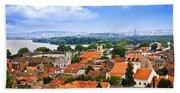 Zemun Rooftops In Belgrade Bath Towel