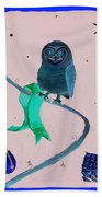 2008 Owl Negative Bath Towel