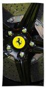 2012 Ferrari 458 Spider Brake Pad Yellow Bath Towel