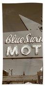Route 66 - Blue Swallow Motel Bath Towel