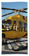 A Bell 407 Utility Helicopter Hand Towel