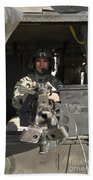 A Uh-60 Black Hawk Door Gunner Manning Bath Towel