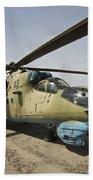 An Mi-35 Attack Helicopter At Kunduz Bath Towel
