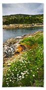 Atlantic Coast In Newfoundland Bath Towel