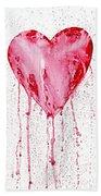 Bleeding Heart Bath Towel