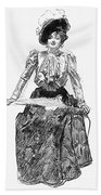 Gibson Girl, 1899 Bath Towel