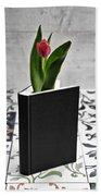 Tulip In A Book Bath Towel