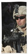 U.s. Marine Provides Security Bath Towel