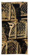 Wooden Lobster Traps Bath Towel
