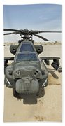 An Ah-64d Apache Helicopter At Cob Bath Towel