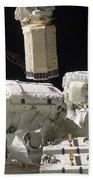 Astronauts Working On The International Bath Towel