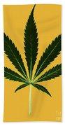 Cannabis Sativa, Marijuana Leaf Bath Towel
