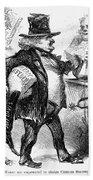 Civil War: Cartoon, 1861 Bath Towel