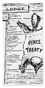 League Of Nations Cartoon Bath Towel
