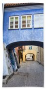Old Town In Warsaw Bath Towel