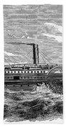 4 Wheel Steamship, 1867 Bath Towel