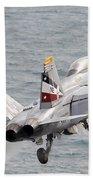 An Fa-18f Super Hornet Launches Bath Towel