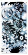 Gears Wheels Design  Bath Towel