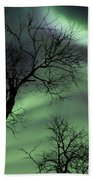Northern Lights In The Arctic Bath Towel