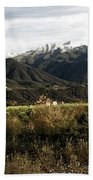 Ojai Valley With Snow Bath Towel