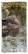 Teal Duck Bath Towel