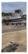 Tenby Harbour From North Beach Bath Towel
