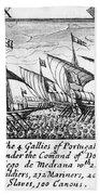 Spanish Armada, 1588 Bath Towel
