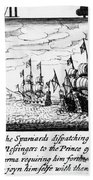 Spanish Armada, 1588 Bath Towel