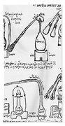 Alchemy Illustration Bath Towel