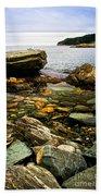 Atlantic Coast In Newfoundland Bath Towel
