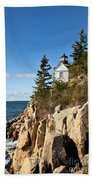 Bass Harbor Lighthouse Bath Towel