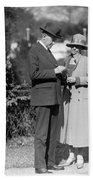 Calvin Coolidge (1872-1933) Bath Towel