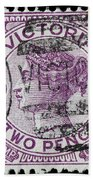 old Australian postage stamp Bath Towel