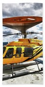 A Bell 407 Utility Helicopter Bath Towel