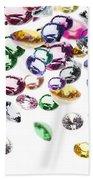 Colorful Gems Bath Towel