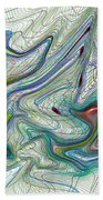 Abstract Pattern Art Bath Towel