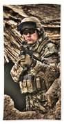 Hdr Image Of A German Army Soldier Bath Towel