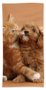 Puppy And Kitten Bath Towel