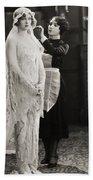 Silent Film Still: Wedding Bath Towel