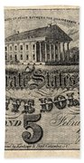 Confederate Banknote Bath Towel