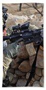 U.s. Army Soldier Provides Security Bath Towel