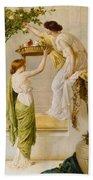 A Basket Of Roses - Grecian Girls Bath Towel
