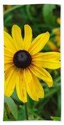 A Beautiful Close Up Of A Sunflower Bath Towel