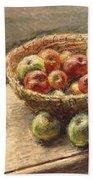 A Bowl Of Apples Bath Towel